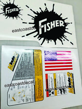Fisher Minute Mount 2 Snow Plow Decals 7pc Kit for SD LD RD HT HD Blades ALL NEW