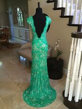 $640 NWT GREEN LACE JOVANI PROM/PAGEANT/FORMAL DRESS/GOWN #28205 SIZE 6