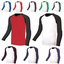 Basic Tees Baseball Solid T-Shirts for Men