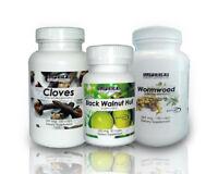 Dr Hulda Clark Parasite Cleanse - Freeze-Dried Black Walnut Caps,Cloves,Wormwood
