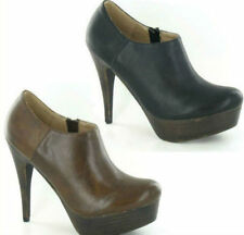 Zip Stiletto Heel Spot On Synthetic Shoes for Women