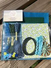 Brand New Tiny Flowers Craft Set Fat Quarter/ Felt / Ribbon / Threads / Buttons