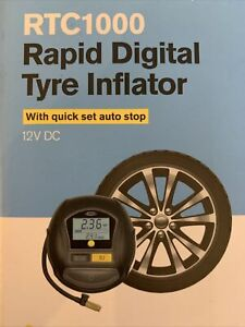 RING Rapid Digital Tyre Inflator with Autostop [RTC1000] 12V DC