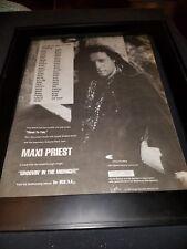 Maxi Priest Groovin' In The Midnight Rare Original Radio Promo Poster Ad Framed!
