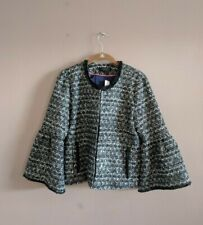 J. Crew Women's Sz 6 NWT Lady Jacket Blazer in Sequin Tweed Bell Sleeve $178