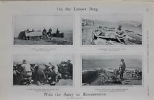 1900 PRINT LOOPER BERG WITH ARMY TO BLOEMFONTEIN SHELTER NAVAL 12 POUNDER GUN