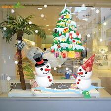 LARGE Window Christmas Decoration Sticker Vinyl Snowman Christmas Tree New Year