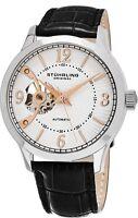 Stuhrling Men's Automatic Open-Heart Sunray Dial Self Winding Dress Watch 987.01