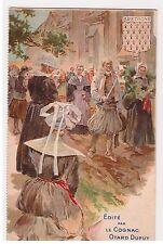 CPA illustrateur PUBLICITE COGNAC OTARD DUPUY BRETAGNE BLASON COIFFE BIGOUDEN