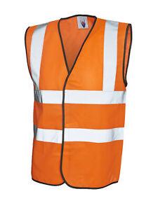High Visibility Sleeveless Waistcoat UC801 Orange Large