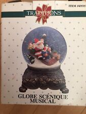 Traditions Heirloom Musical Water Globe Silver Bells Christmas Scene