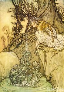 The Magic Cup 1913 - Arthur Rackham Fantasy Poster Art Print A4
