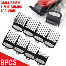 8Pcs 3-25mm Black Hair Clipper Cutting Guide Comb Guards Tool for WAHL Kemei