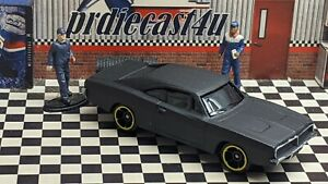 """MAISTO 1969 DODGE CHARGER R/T LOOSE CUSTOM """"MATTE BLACK SATIN"""" COLLECTION SERIES"""