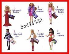 2008 McDonalds Barbie MIP Complete Set - Lot of 6, Girls, 3+