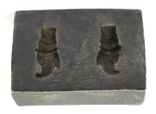 Antique Indian Iron Jewelry Making Mould Stamp Dye tool Wax Seal. G46-235 US