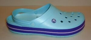 Crocs Size 13 CROCBAND Ice Blue Clogs Loafers New Mens Shoes