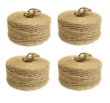 (4 Pack ) 350ft. 100% Natural Jute Twine Rope