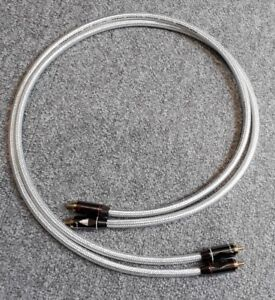 Van Damme Silver Series Lo-Cap 55pF Interconnect 1m - gold plated RCA Plugs
