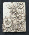"""Sid Dickens Memory T-092 Tile Block 2001 """"Alabaster Roses"""" T092 Retired SIGNED"""