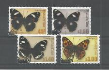 TOKELAU 2013 BUTTERFLIES SG,453-456 F/USED LOT 9822A