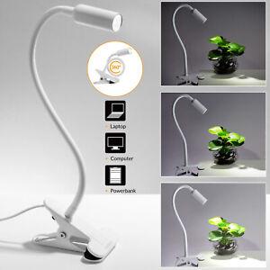 Lampada LED a clip da lettura portatile con cavo USB da tavolo letto spalliera