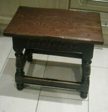 Antique Carved Oak  JOINT STOOL 17TH CENTURY STYLE  H HALLAM & SONS NOTTINGHAM