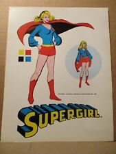 Supergirl ORIGINAL 1975 DC PROOF Color Character Model Art Page Pepsi Toys MEGO