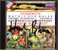 Herbert Blomstedt firmato Hindemith Symphony Mathis il pittore Metamorphosis CD