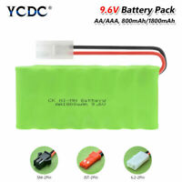 9.6V AA AAA NiMH Ni-MH Battery Pack Rechargeable With L6.2/SM/JST Connector