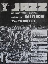 """Xe JAZZ FESTIVAL de NIMES 1985"" Affiche originale entoilée de Gérard SAURIN"