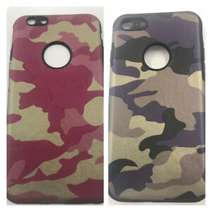 Camo Camouflage Army Hybrid Rubber Case Cover For iPhone 7 ~PREMIUM QUALITY