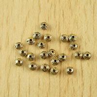 30pcs dark gold tone daisy flower spacer beads h1955