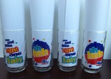 "Set of 4 Vintage Diet Pepsi Glasses, ""Uh Huh, You Got The Right One Baby"""