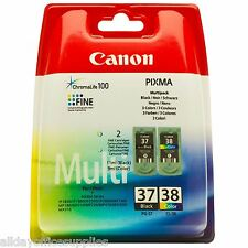 Canon PG-37 / PG37 / PG 37 Black and CL-38 / CL38 / CL 38 Colour Ink Cartridge