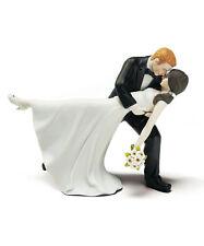 A Romantic Dip Dancing Couple Wedding Cake Topper CUSTOMIZATION & VEIL Available