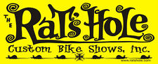 "Yellow Rats Hole Custom Bike Show sticker 2.75""X 7.75"""