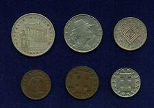 AUSTRIA 1925 1 & 1/2 SCHILLING SILVER COINS, 10 GROSCHEN, 1931 5 GROSCHEN,...