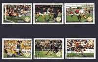 Football Belize (3) série complète 6 timbres oblitérés