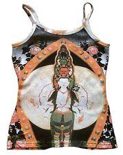 White Red Green Black Tara tipet nepal Buda Shiva tatuaje tipo wow top camisa S/M