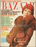 SEPT 1973 HARPERS BAZAAR vintage womans fashion magazine SERENA RHINELANDER