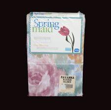 "Springmaid Ravanna Abstract Floral Roses Blouson Valance 84"" x 15"" Nip Disc!"