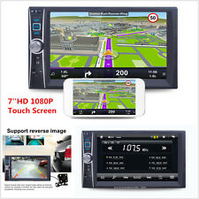 7'' HD 2 Din Car Radio MP5 Video Player Touch Screen FM AUX USB +Rear Camera Kit