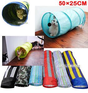 Folding Pet Cat Dog Rabbit Fun Tunnel Foldable training Toy Pop Out 50cm x 25cm