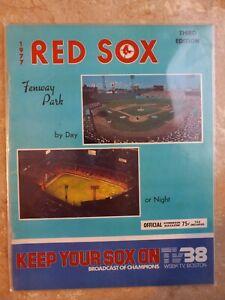Boston Red Sox Program 1977