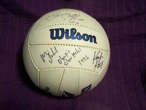 96 SIGNED Olympic Beach Volleyball USA Silver Medalist Karch Kiraly Kent Steffes