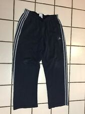ADIDAS 3 Stripe Charcoal Gray Athletic Warm Up Sweat Pants Track Running Men's L