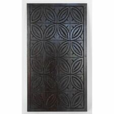 Antique 19th c. French Carved Chestnut Neo Gothic Architectural Geometric Panel
