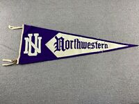 Northwestern Wildcats Pennant Flag Banner University Purple Felt VTG