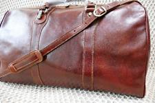 Petate, bolsa de viaje, 100% Genuino Cuero Italiano, fin de semana, equipaje, hecho a mano
